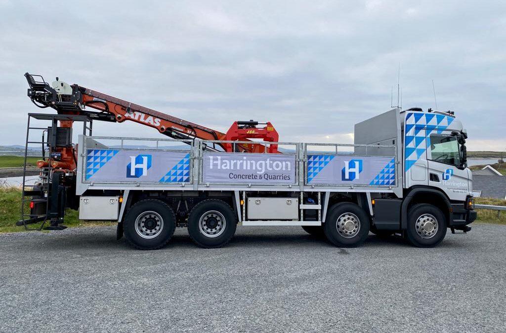 Best Wishes to Harrington Concrete Scania P500 8×4