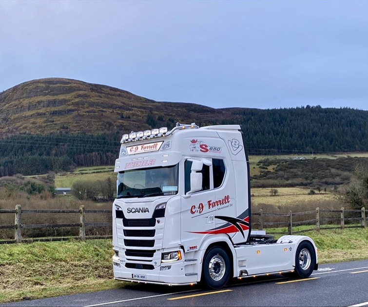 Congrats to C.J. Farrell International Scania S650