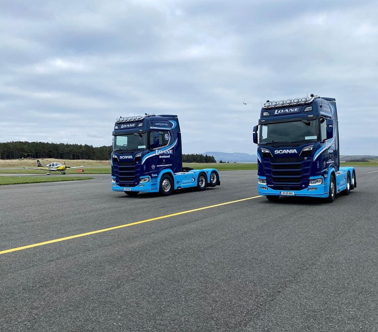 Best of luck to Loane Transport Ireland Scania S650 6×2 Tag Lifts