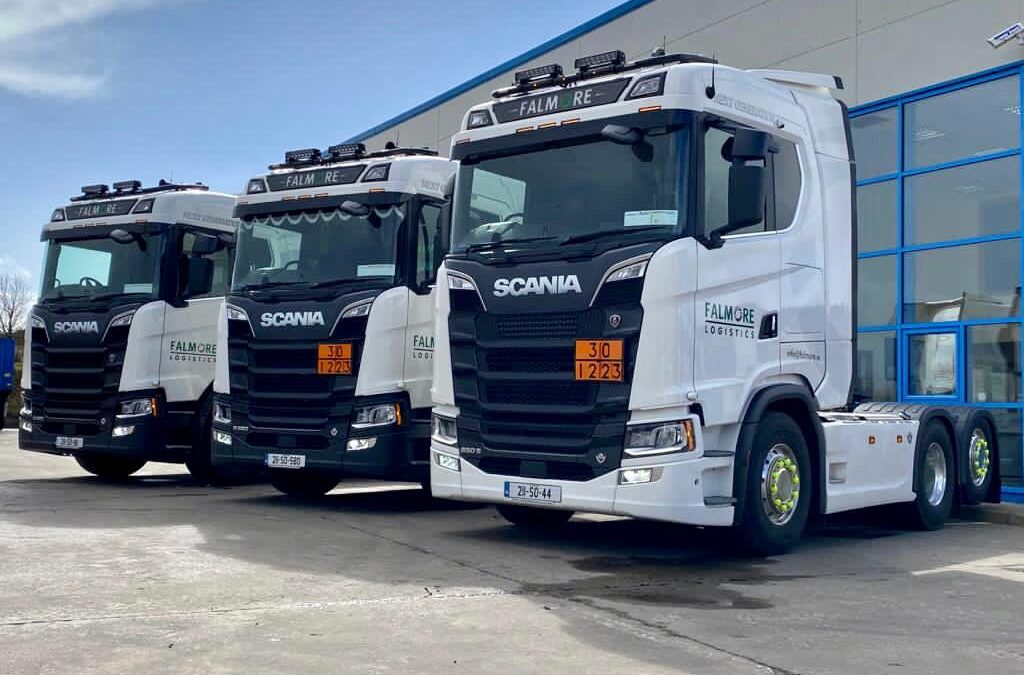 Best wish to Falmore Logistic with 3 new Scania